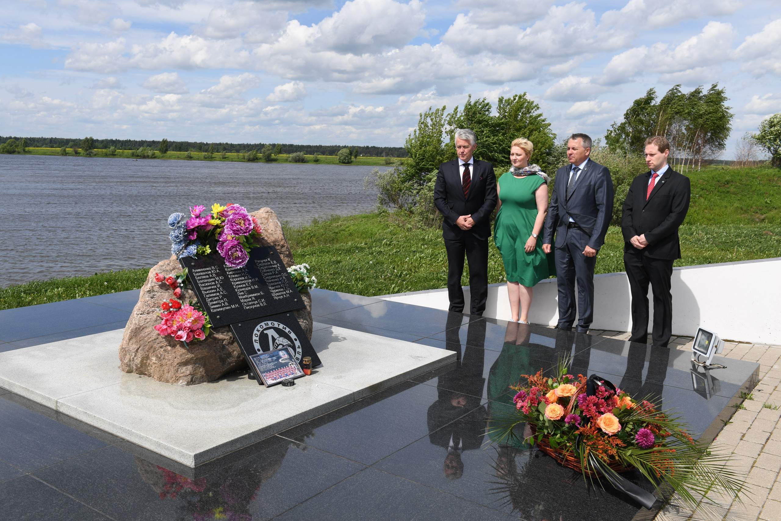 The IIB Delegation honored the memory of